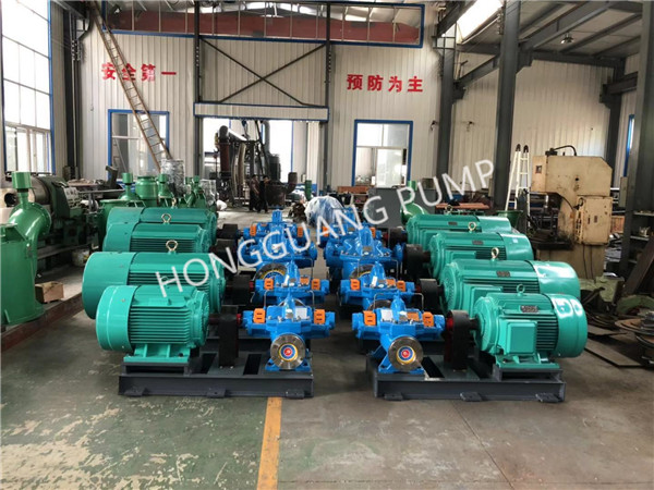 Single stage double suction horizontal centrifugal pump